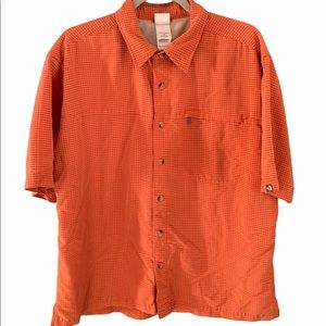 The North Face- Orange Button Shirt